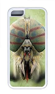 Big Face Horse Fly TPU Silicone Case Cover for iPhone 5C White