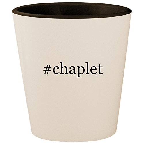 Michael Anthony Gold Cross (#chaplet - Hashtag White Outer & Black Inner Ceramic 1.5oz Shot Glass)
