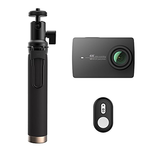 YI 4K Action and Sports Camera, 4K/30fps Video 12MP Raw Image with EIS, Live Stream, Voice Control, Selfie Stick & Bluetooth Remote - Night (32G MicroSD Included) YI Technology