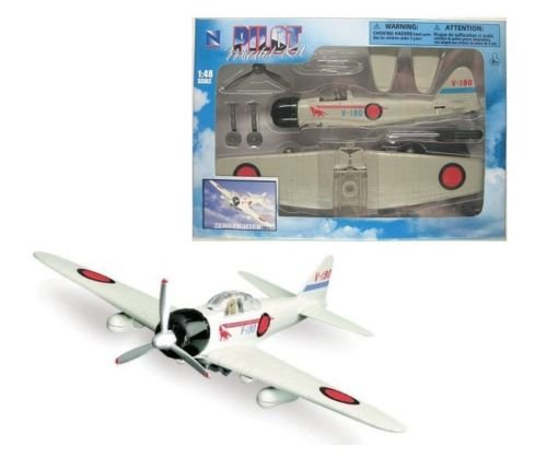 New 1:48 NEW RAY SKY PILOT COLLECTION - WORLD WAR II FIGHTER PLANES - ZERO FIGHTER Model By NEW RAY ()