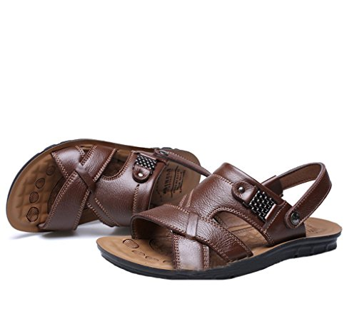 MatchLife - Sandalias de vestir de Material Sintético para hombre - Style3-Dunkel Braun