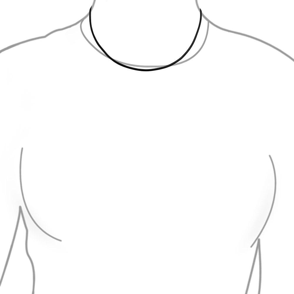 Bling Jewelry Cord/ón De Cuero Negro Liso Genuina Collar para Hombres Y para Mujer Adolescentes Mosquet/ón Plateado 14 16 18 20 24 Pulg.