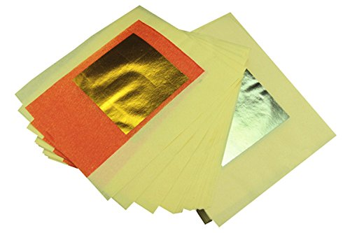 Orange Bb Gold And Silver Foil   Chinese Ingot For The Ancestors  Pack Of 100
