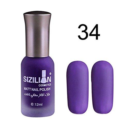 Nail Gel Deesee(TM) Matt Uv Diamond Nail Gel Polish Primer Nail Art Tip Creative Manicure Decoration (Purple ()