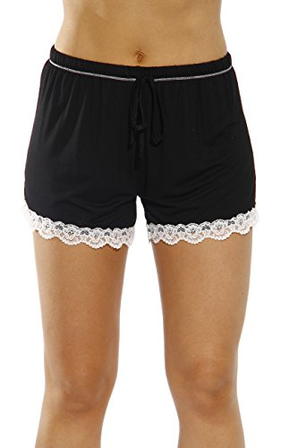 Summer Pajamas Shorts (CS601105-BLK-M Christian Siriano New York Womans Pajamas Shorts - PJs - Sleepwear)
