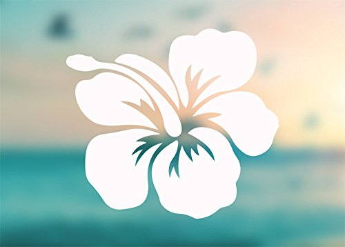 - HIbiscus Shape Flower - Vinyl Decal Outdoor Weatherproof - SELECT SIZE