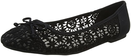 Evans Women's Lace Closed Toe Ballet Flats Black (Black 01) cTjr60mkvL