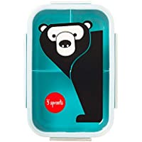 3 Sprouts Lunch Bento Box - Bear, Teal