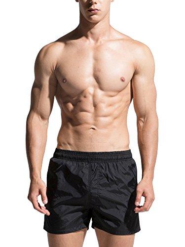 Neleus Men's Dry Fit Workout Shorts,722,Black,US