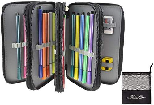 Federmappe Oxford Schüleretui 72 Slots Stiftemappe Super Große Schlamperbox für Buntstifte Bleistifte(Bleistifte sind nicht enthalten)
