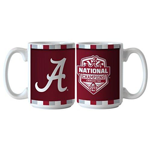 NCAA Alabama Crimson Tide 2015 CFP Champions Sublimated Coffee Mug, 15-ounce, 2-Pack