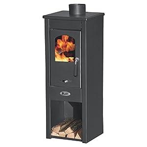 Stufa a legna 7kW antracite acciaio riscaldamento ambienti casa EKONOMIK LUX LM 2 spesavip