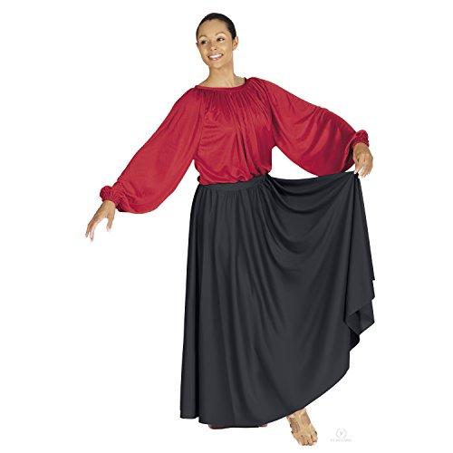 - Eurotard Adult Lyrical Circle Skirt (13778) -BLACK -OSFA
