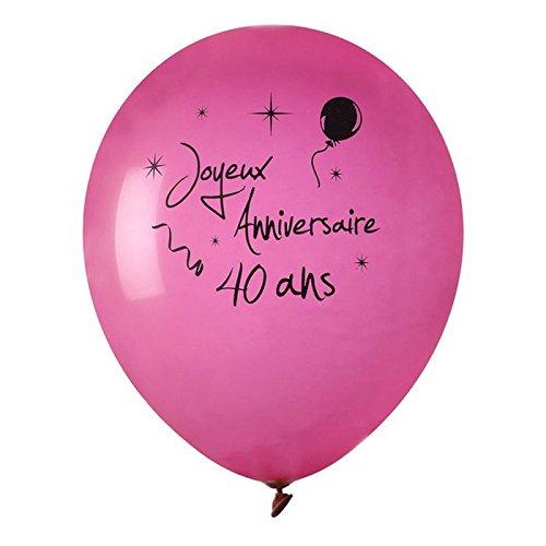 Globo colgante del Enanito Feliz cumpleaños años 40 x 8 cm ...