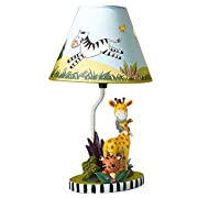Teamson Design Corp Fantasy Fields - Sunny Safari Animals Thematic Kids Table Lamp | Imagination Inspiring Hand Painted Details Non-Toxic, Lead Free Water-based Paint