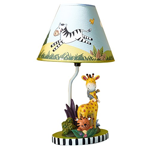 Fantasy Fields - Sunny Safari Animals Thematic Kids Table Lamp | Imagination Inspiring Hand Painted Details   Non-Toxic, Lead Free Water-based Paint -