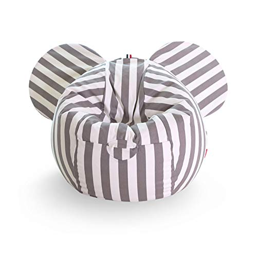 Yjsofa Bean Bag - Kids Gaming Chair Ninos Lazy Outdoor Lazy Sofa (Color : Gray Stripes)
