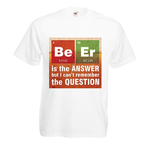 n4520-t-shirt-male-the-beer-is-the-answer-medium-white-multi-color