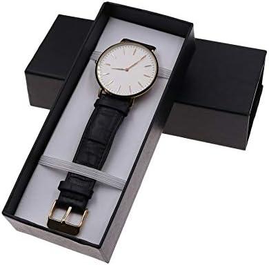 HOBFUUK Caja de Embalaje para Reloj, Caja de Regalo, joyería, Accesorios, Organizador de Joyas, Color Negro: Amazon.es: Hogar