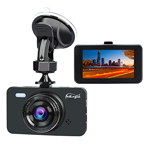 [2018 Newest] Dash Cam 1080P DVR Dashboard Camera Full HD 3″ LCD Screen 170°Wide Angle, WDR, G-Sensor, Loop Recording Motion Detection Excellent Video Images(Black)