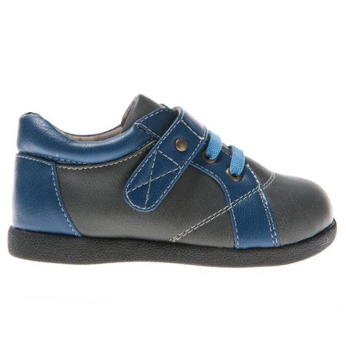 HLT Toddler/Little Kid Boy Decorative Shoelace and Copper Rivet Grey Uniform Shoe [US 10 / EU 27]