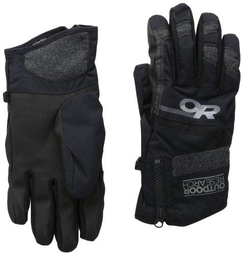 Outdoor Research Men's Riot Gloves, Black, Large (Riot Ski)