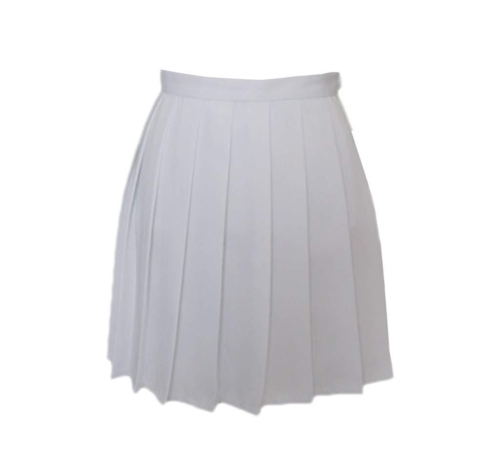 HEHEAB Falda,Blanco Chicas Japonesas Faldas Colegialas Falda ...