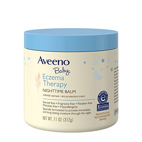 Aveeno Baby Eczema Therapy Nighttime Balm with Natural Colloidal Oatmeal for Eczema Relief, 11 oz. (Ointment Eczema)