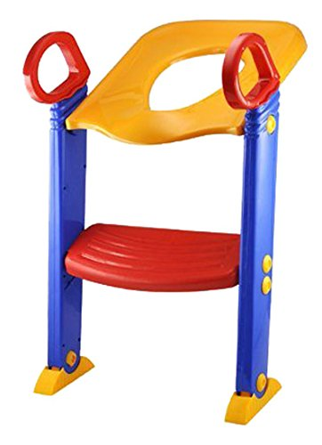 SODIAL(R) NEW CHILD TODDLER KIDS TOILET POTTY TRAINER TRAINING CHAIR STEP UP LADDER SYSTEM (Potty Step System Training)