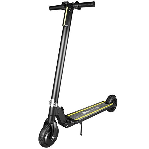 BAOCHUANG Adult Electric Kick Scooter,Foldable motorized scooter with LED Light Max 15.5 MPH, 5.2 AH...
