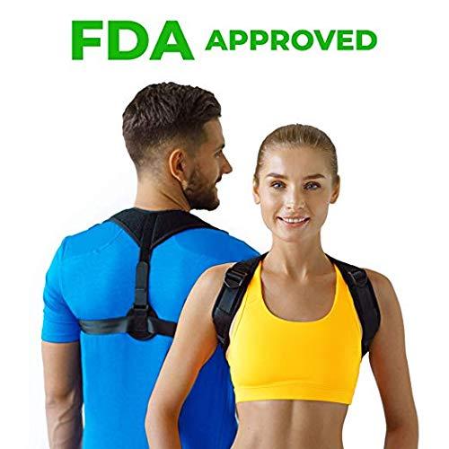 Figure 8 Posture Corrector | Invisible Shoulder Posture Strap for Men & Women | Effective Shoulder Corrector for Posture Brace | Discreet Clavicle Posture Support Rehab & Alignment Shoulders (Best Shoulder Posture Brace)