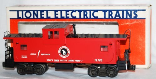 (Lionel 6-19703 Great Northern Extended Vision Caboose GN Lighted Boxed O 027)