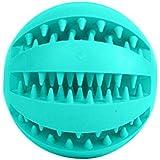 Niome Pet Rubber Ball Chew Treat Dispensing Holder Dog Puppy Cat Toy Training Dental Blue