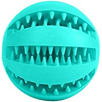Niome Pet Rubber Ball Chew Treat Dispensing Holder Dog Puppy Cat Toy Training Dental Blue