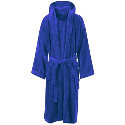Algodón egipcio de toalla albornoz toalla albornoz Royal Blue / Hooded