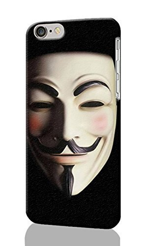 Kellie-Diy Guy Fawkes Mask Pattern Image - protective 3d Rough case cover - Hard Plastic 3D rsMVgqbyrNQ case cover - For iPhone 6 Plus- 5.5