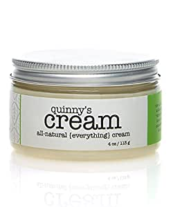 Quinny's Cream, 100% Organic & Natural Skincare for Men and Women , Pure Shea Butter, Avocado & Olive Oil, Anti Aging, Deeply Hydrating & Moisturizing for Eyes, Face, Neck & Body 4 Oz