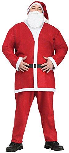 Fun World Costumes Men's Plus-Size Plus Size Adult Pub Crawl Santa Suit, Red/White, X-Large