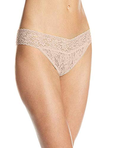 Hanky Panky Women's Signature Lace Original Rise Thongs - One Size - Chai , (Pack of 3)