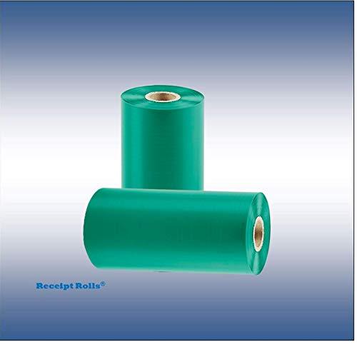 4.02'' x 1345' (102mm x 410m) Green Thermal Transfer Ribbons (24) Wax Resin ()