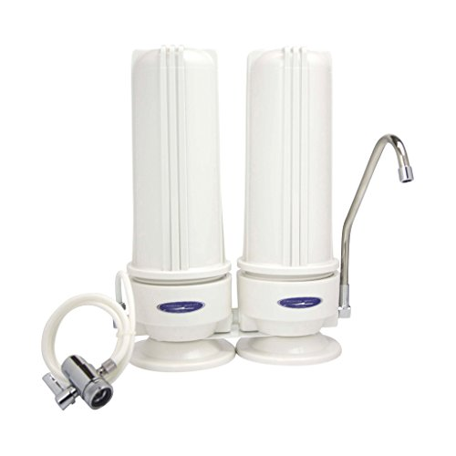 CRYSTAL QUEST Countertop Replaceable Double Nitrate Water Filter (Nitrate Removal Water Filter)