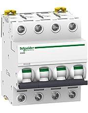 Schneider Electric A9F75463 Interruptor Automático Magnetotérmico Ic60N, 4P, 63A, Curva D