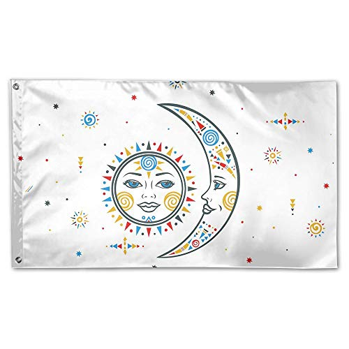 BINGOGING FLAG Decorative House Flags - Bohemian Sun Moon Ou