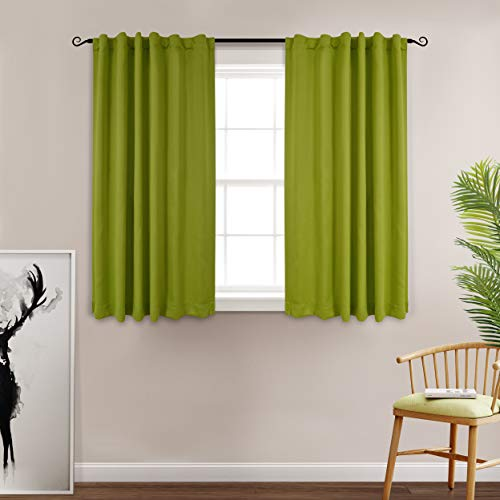 MYSKY HOME Drapes for Living Room Thermal Insulated Back Tap