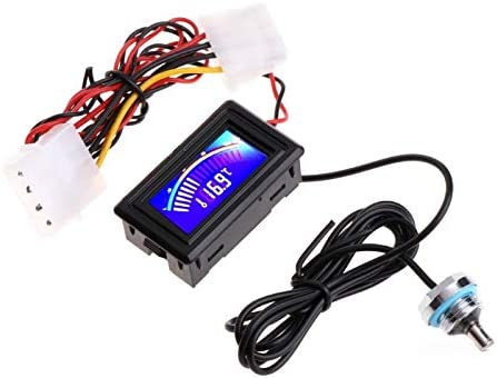 Lindsie Box Water Cooling Analog Water Temperature Gauge Meter G1//4 Computer Thermodetector
