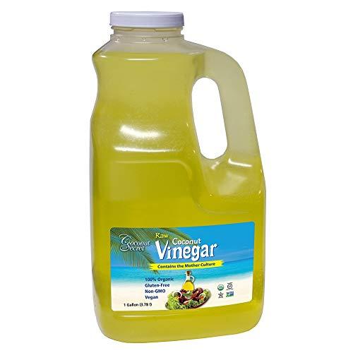 Coconut Secret Raw Coconut Vinegar - 1 Gallon - Rich in Vitamins & Amino Acids - Organic, Vegan, Non-GMO, Gluten-Free, Kosher - Keto, Paleo, Whole 30 - 256 Servings
