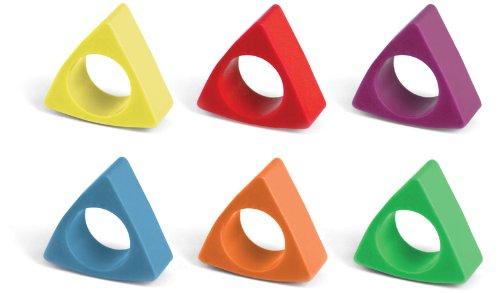 Kikkerland Triangle Crayon Rings, Set of 6 (4317) by Kikkerland