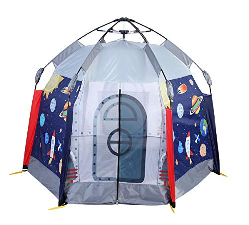 - UTEX Automatic Instant 6 Kids Play Tent for Indoor/ Outdoor Fun,Kids Beach Tent Sun Shelter with Zippered Mesh Front, Camping Playhouse Indoor Playground, 66