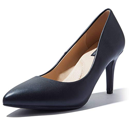 High Heel Stiletto High Heels Pump Pointed-Toe Wedding Evening Party Shoes Comfortable Pumps Wide Width Stiletto Crystal-02 Black Pu 11