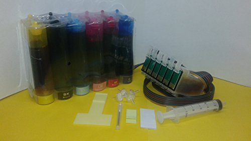 Prisma Full Dye Ink System CISS Cis for use in Epson 1400 Artisan 1430 Printer T079 79 Reset Chip undefined